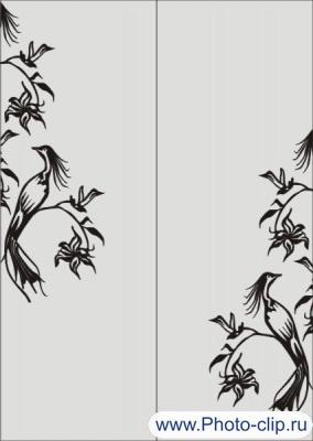 Шаблон птицы №16