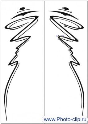 Пескоструйный рисунок Абстракция №168