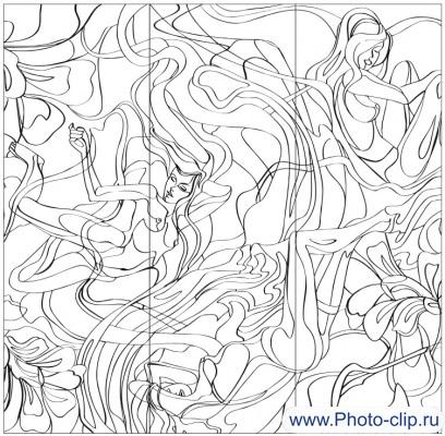 Пескоструйный рисунок Абстракция №179