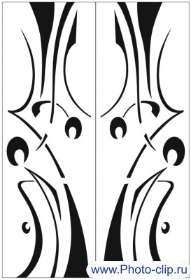Пескоструйный рисунок Абстракция №188