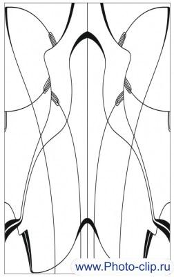 Пескоструйный рисунок Абстракция №196
