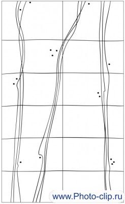 Пескоструйный рисунок Абстракция №208