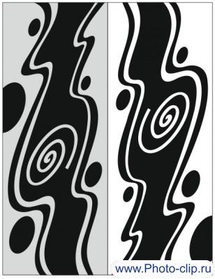 Пескоструйный рисунок Абстракция №225