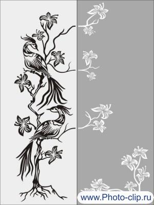 Шаблон птицы  №23