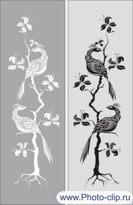 Шаблон птицы №24