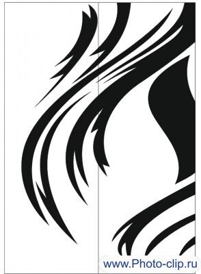Пескоструйный рисунок Абстракция №249