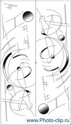 Пескоструйный рисунок Абстракция №252