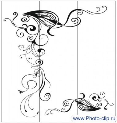Пескоструйный рисунок Абстракция №254