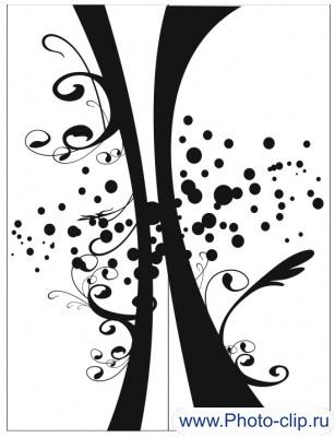 Пескоструйный рисунок Абстракция №256