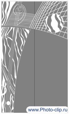 Пескоструйный рисунок Абстракция №222