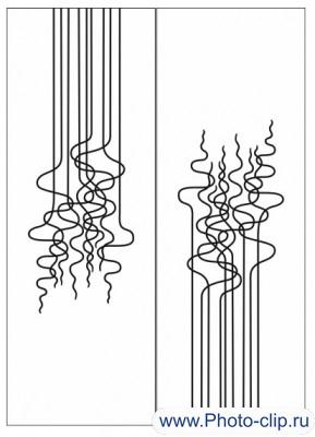 Пескоструйный рисунок Абстракция №296