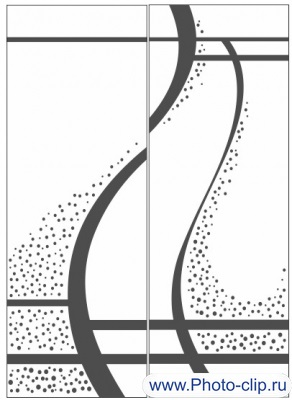 Пескоструйный рисунок Абстракция №305