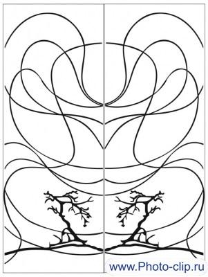 Пескоструйный рисунок Абстракция №313