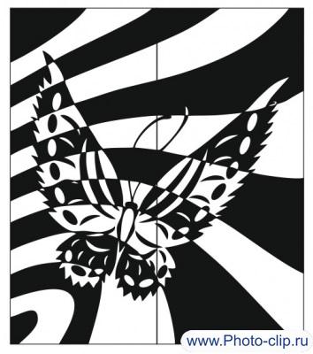 Абстракция бабочка