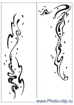 Пескоструйный рисунок Абстракция №331