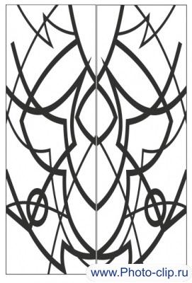 Пескоструйный рисунок Абстракция №335