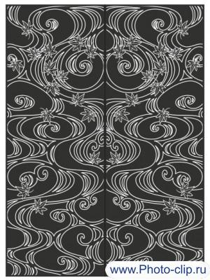 Пескоструйный рисунок Абстракция №343