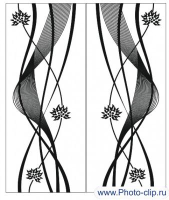 Пескоструйный рисунок Абстракция №344