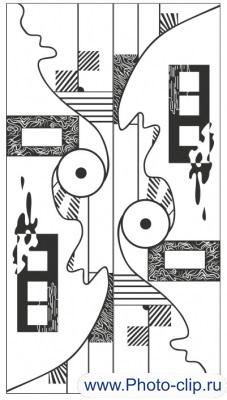 Пескоструйный рисунок Абстракция №356