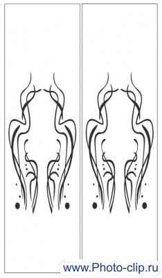 Пескоструйный рисунок Абстракция №364