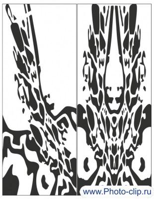 Пескоструйный рисунок Абстракция №372