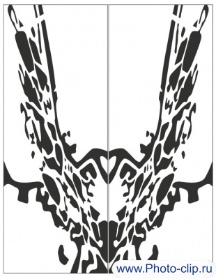 Пескоструйный рисунок Абстракция №373