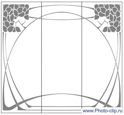 Пескоструйный рисунок Абстракция №393