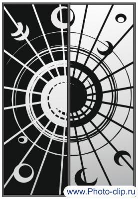 Пескоструйный рисунок Абстракция №401