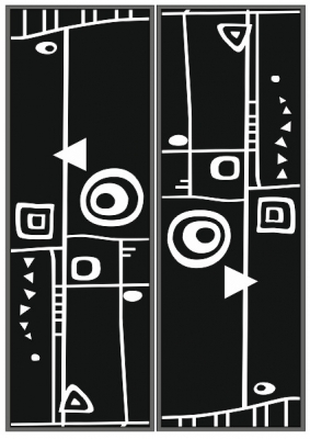 Пескоструйный рисунок Абстракция №403
