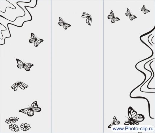 Бабочки в векторе №4