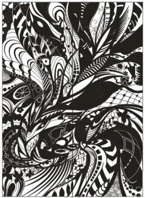 Пескоструйный рисунок Абстракция №410
