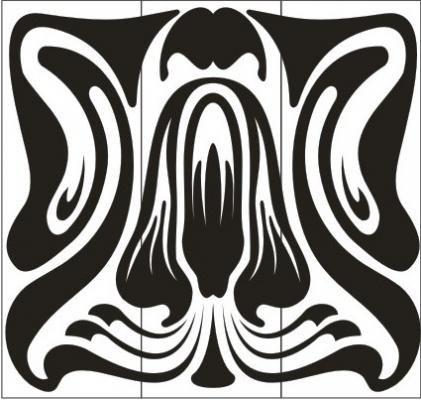 Пескоструйный рисунок Абстракция №411