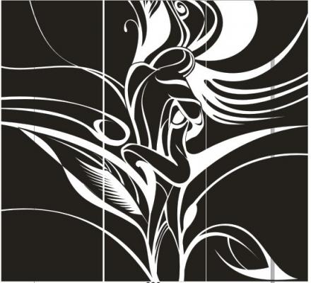 Пескоструйный рисунок Абстракция №416