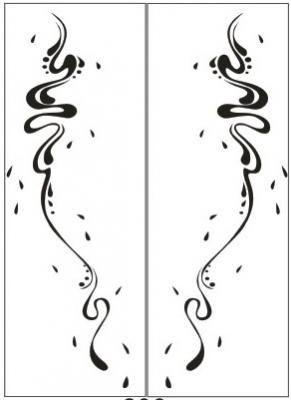 Пескоструйный рисунок Абстракция №421