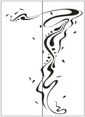 Пескоструйный рисунок Абстракция №360