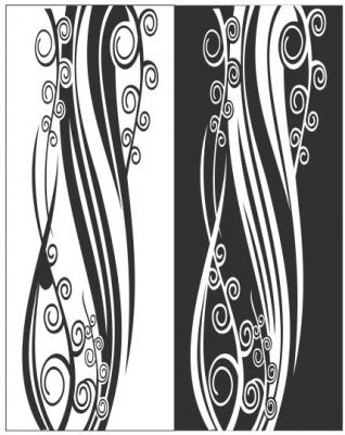 Пескоструйный рисунок Абстракция №425