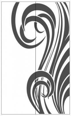 Пескоструйный рисунок Абстракция №428
