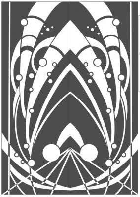 Пескоструйный рисунок Абстракция №429