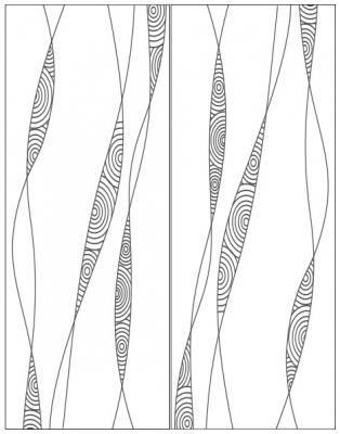 Пескоструйный рисунок Абстракция №431