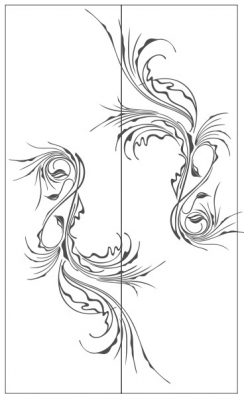 Пескоструйный рисунок Абстракция №432