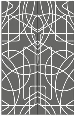 Пескоструйный рисунок Абстракция №444