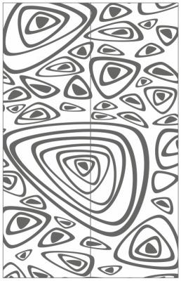 Пескоструйный рисунок Абстракция №447