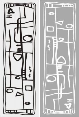 Пескоструйный рисунок Абстракция №455
