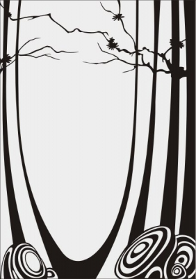 Пескоструйный рисунок Абстракция №459