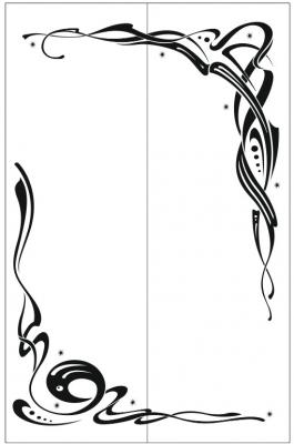 Пескоструйный рисунок Абстракция №465