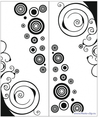 Пескоструйный рисунок Абстракция №491