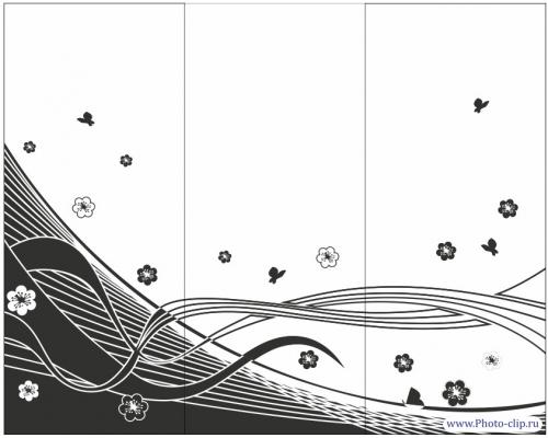 Пескоструйный рисунок Абстракция №496