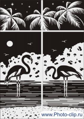 Фламинго в векторе №5