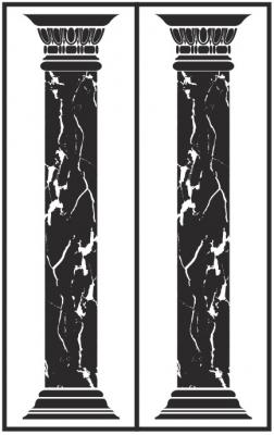 Пескоструйный рисунок Колонны №5