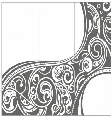 Пескоструйный рисунок Абстракция №649
